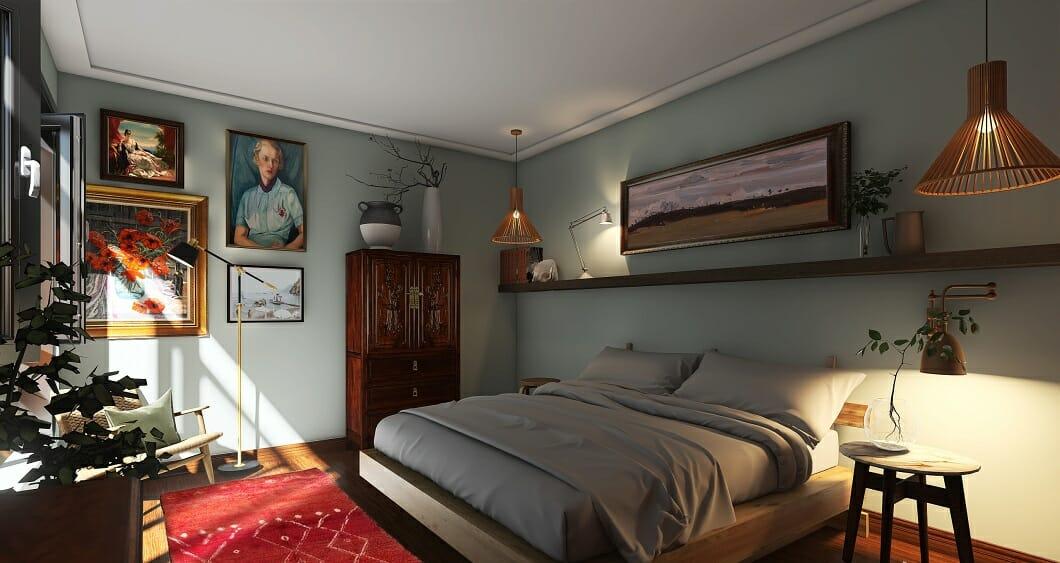 Stylish eclectic bedroom decor - Erin R