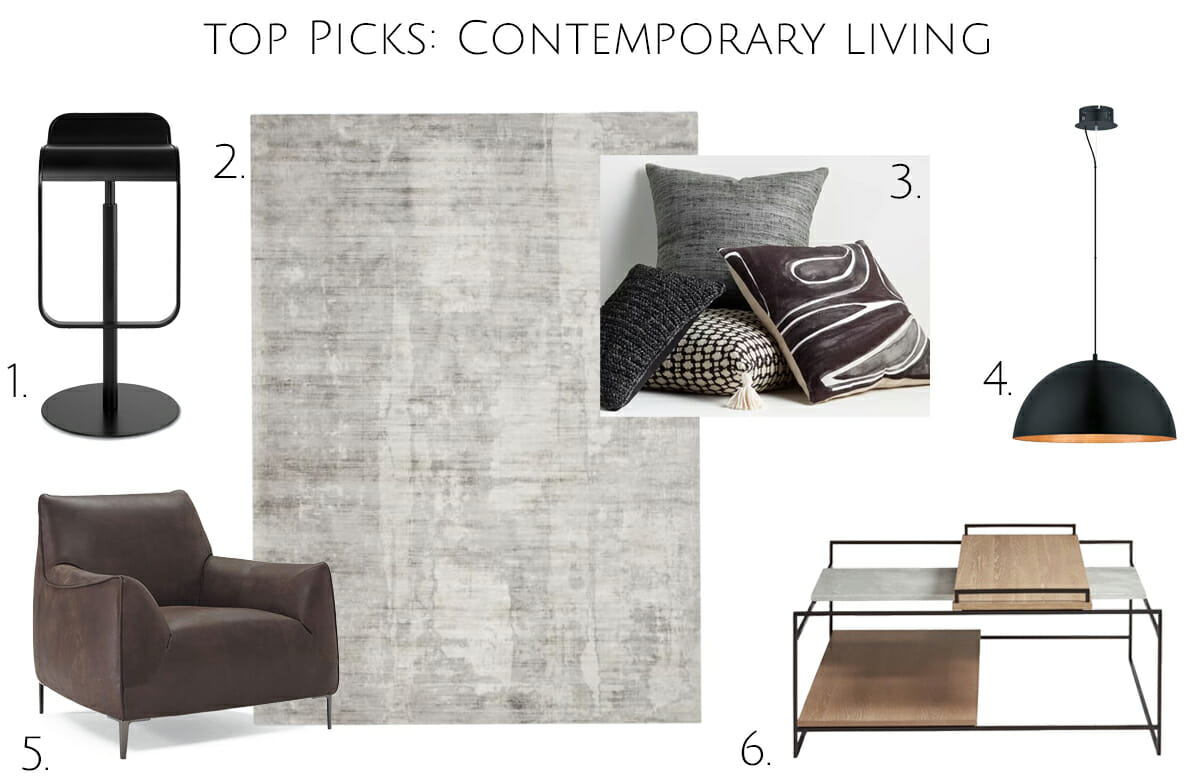 Top picks for a contemporary living room and kitchen addition