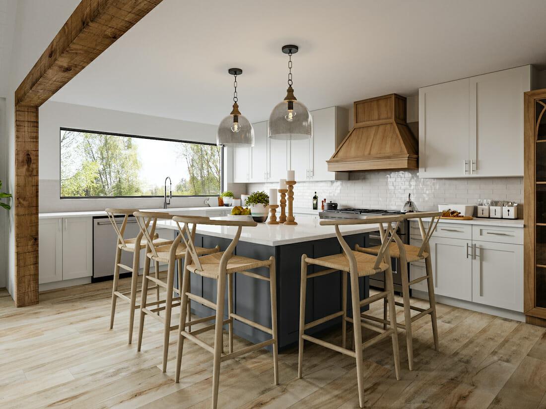 modern rustic furniture in a kitchen design