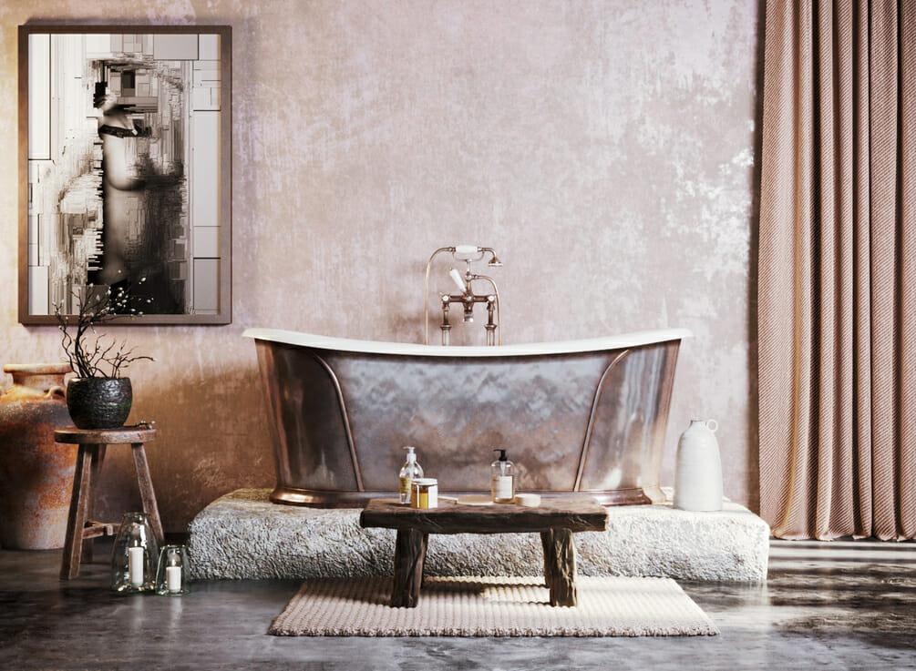 Luxury spa rustic interior design