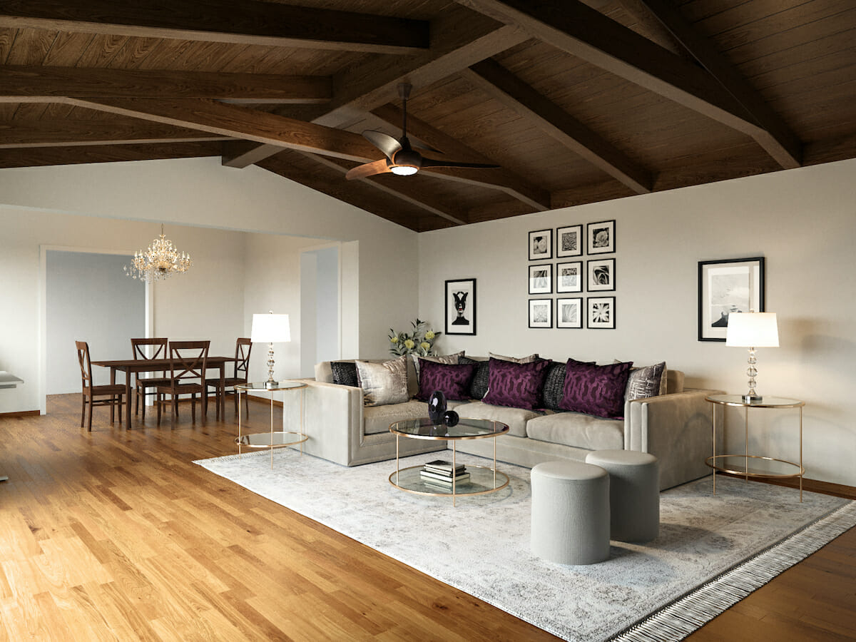 Rustic glam living room ideas by Decorilla