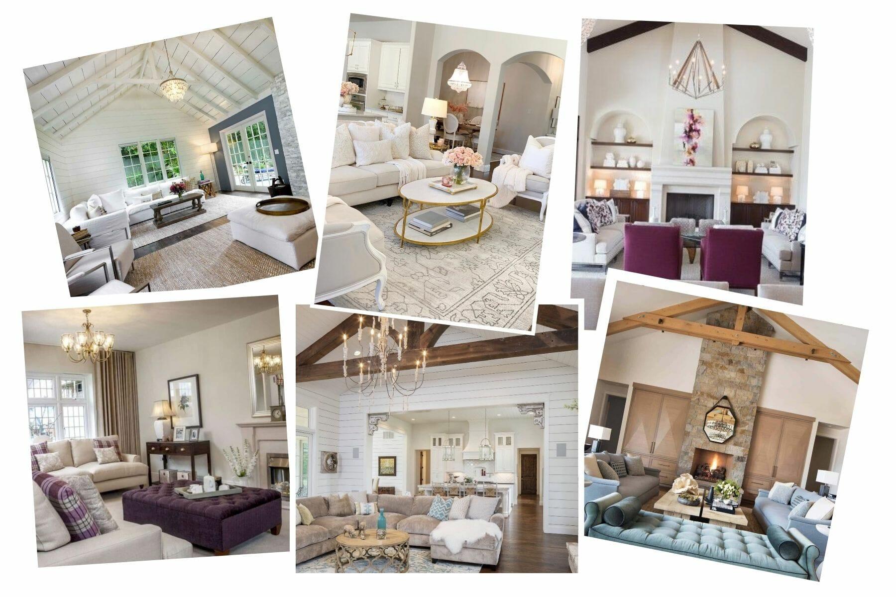 Rustic glam living room moodboard