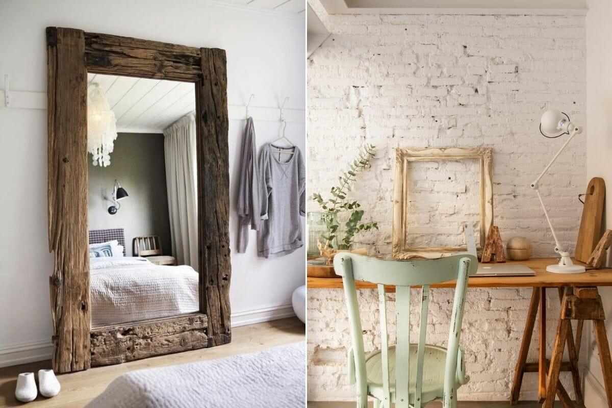 Rustic home interior accents