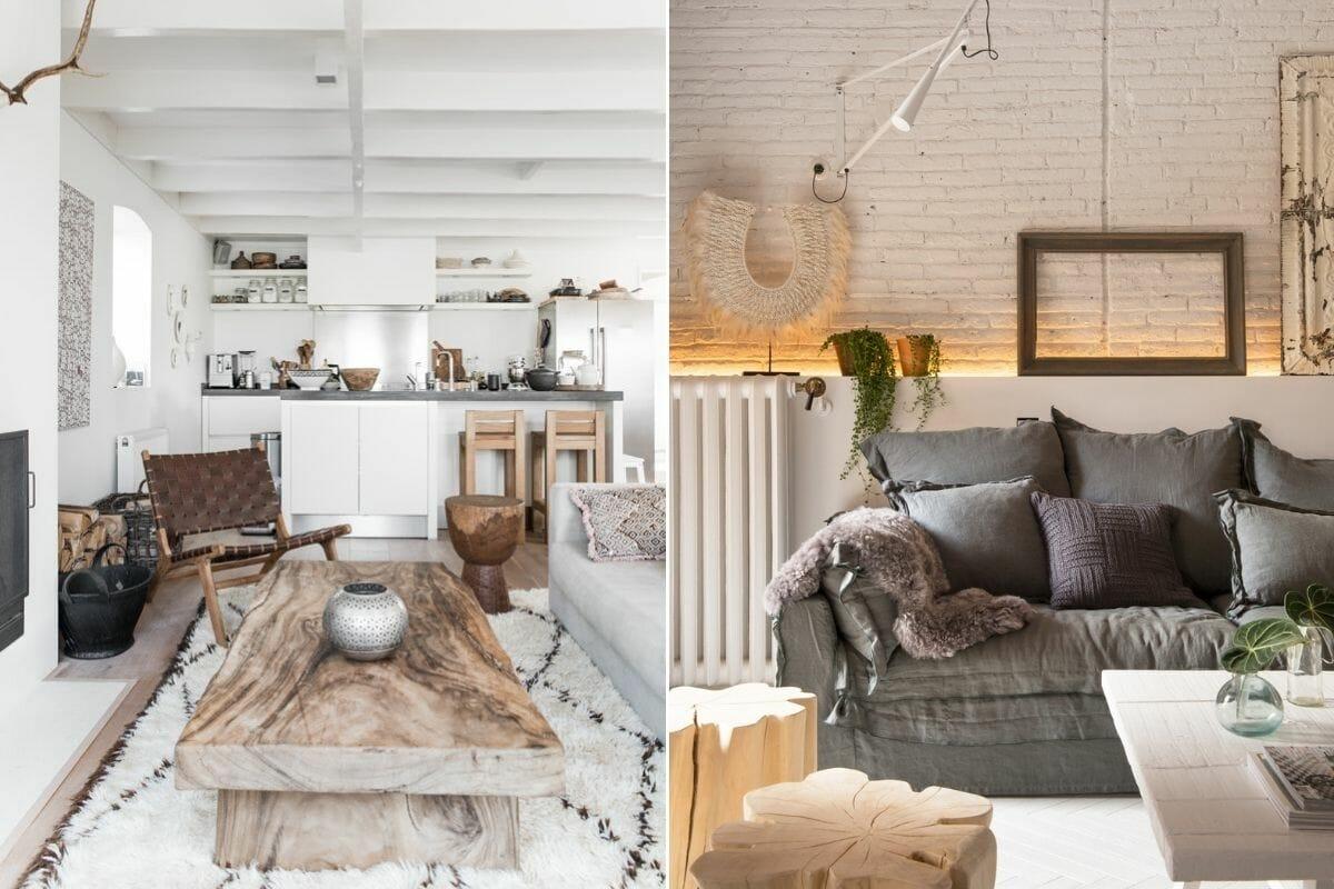 Scandi rustic interior design
