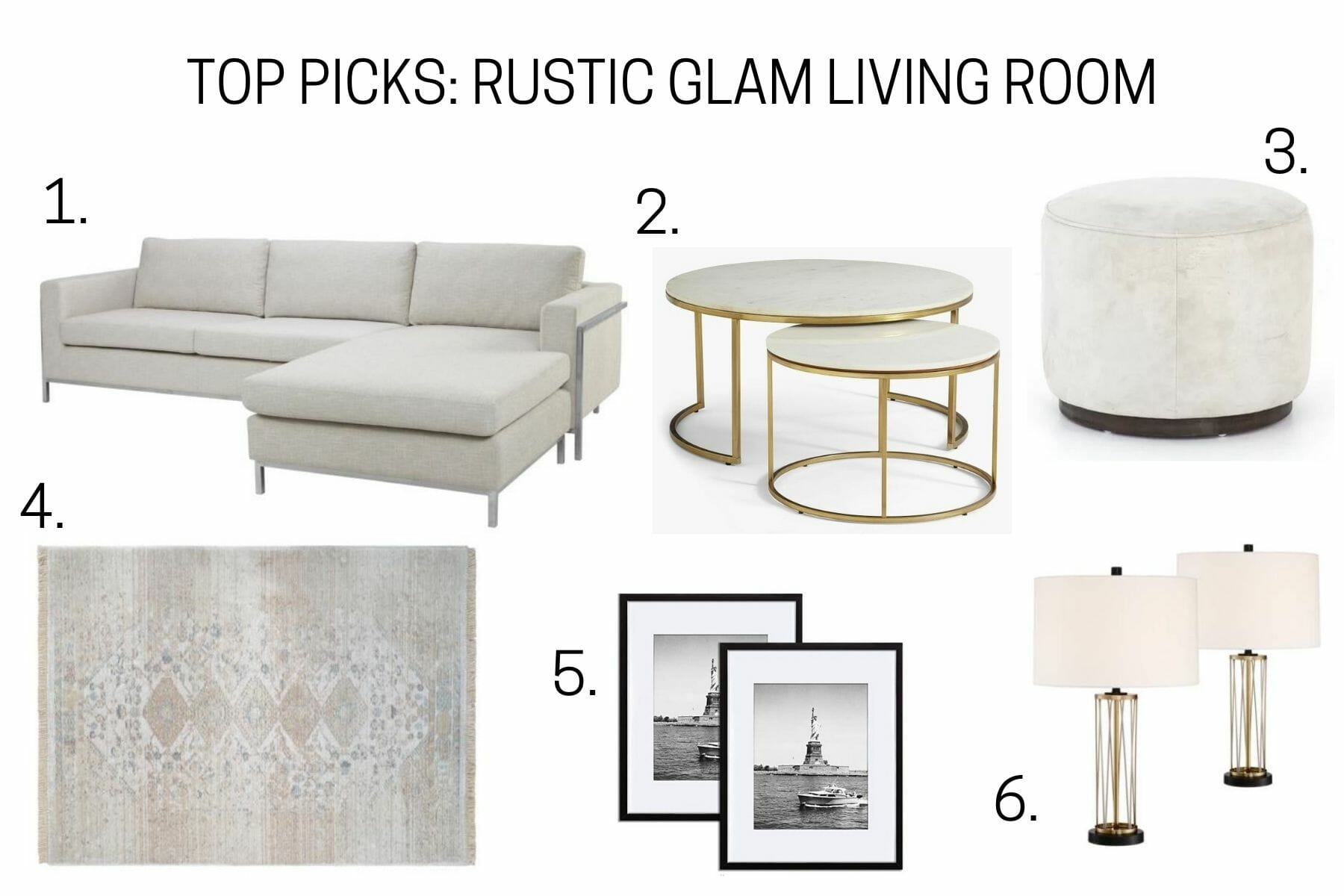 Top picks for rustic glam living room decor