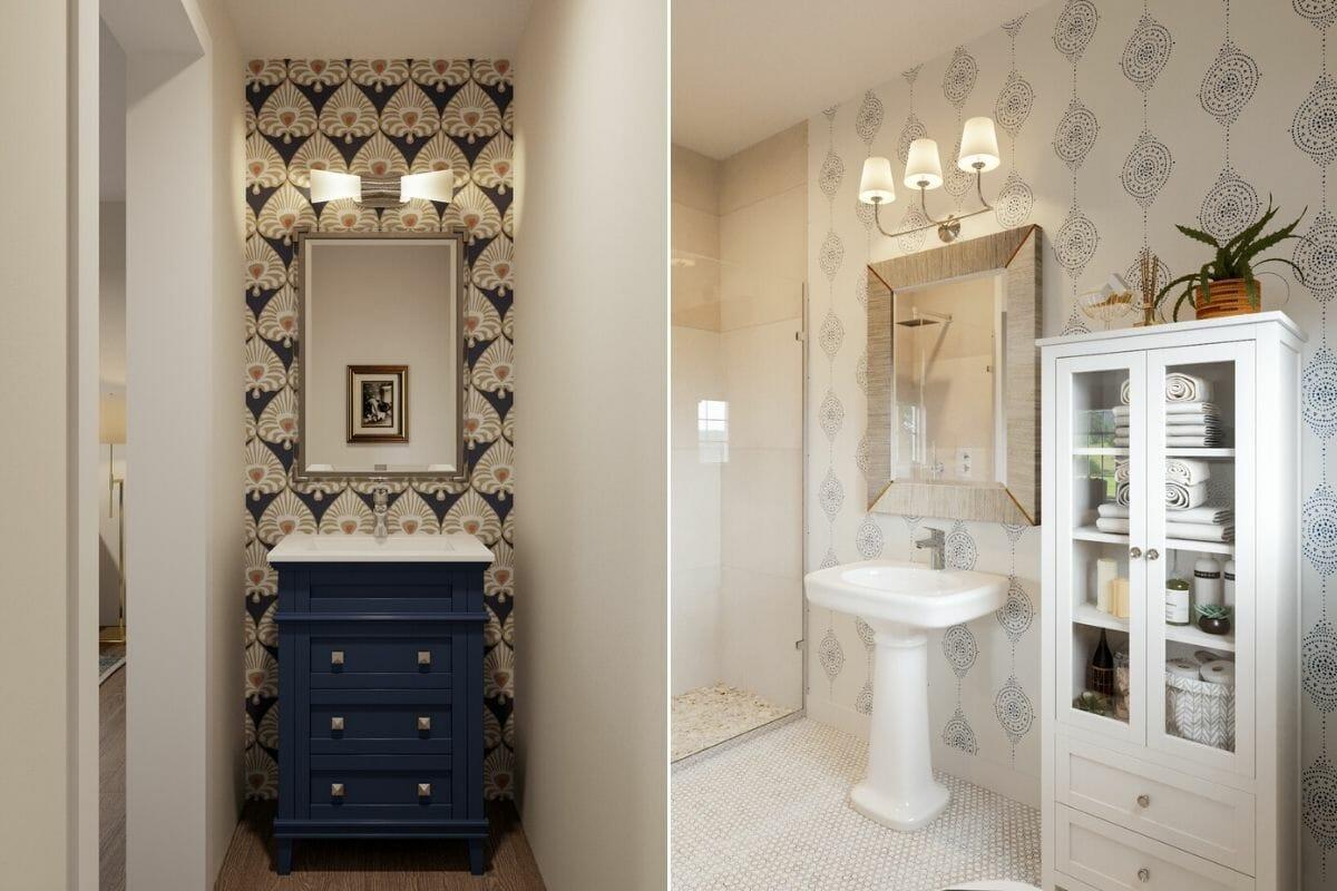Coastal bathroom by online interior design