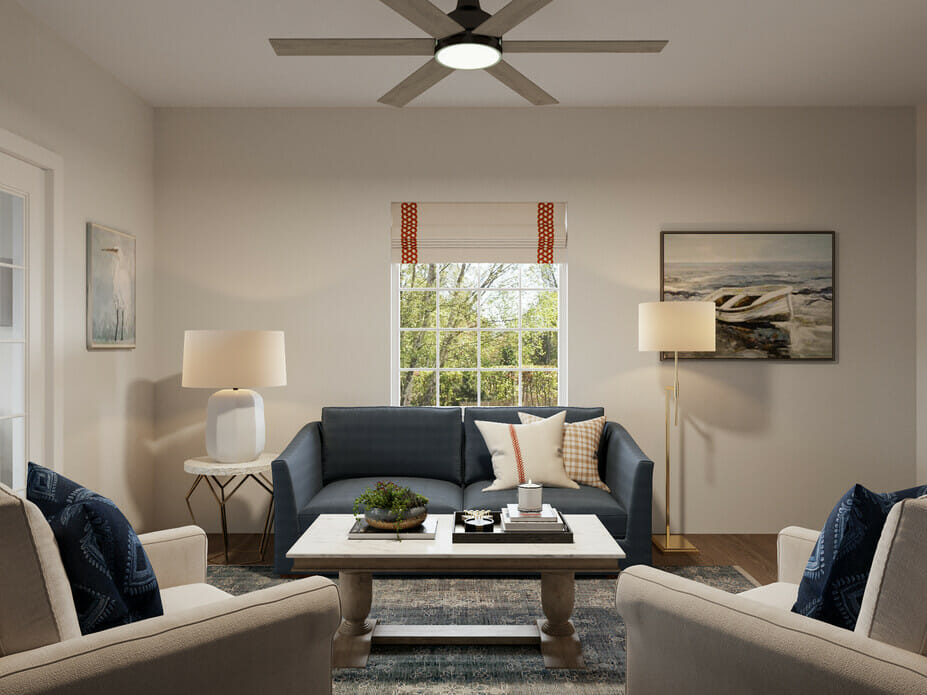 Coastal interior design lounge