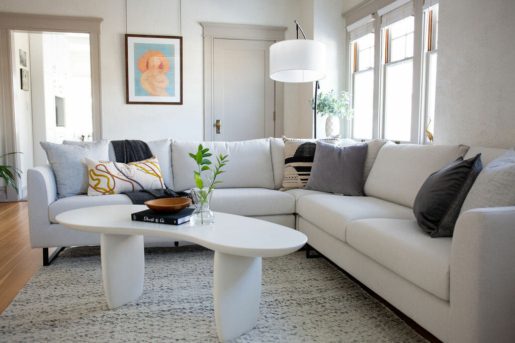 Cool contemporary living room by interior decorator colorado springs alyssa h