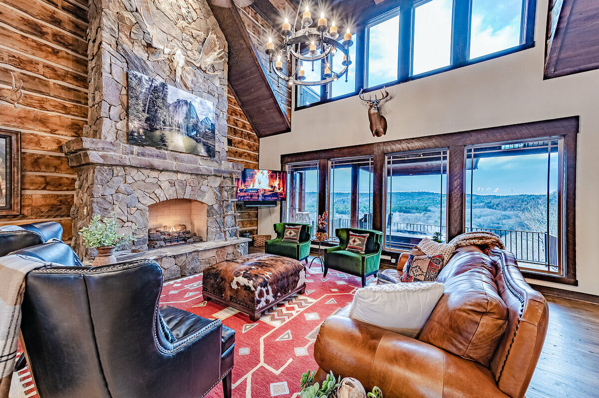 Country-style living room by one of the top Oklahoma city interior designers, Brett Mcpherson