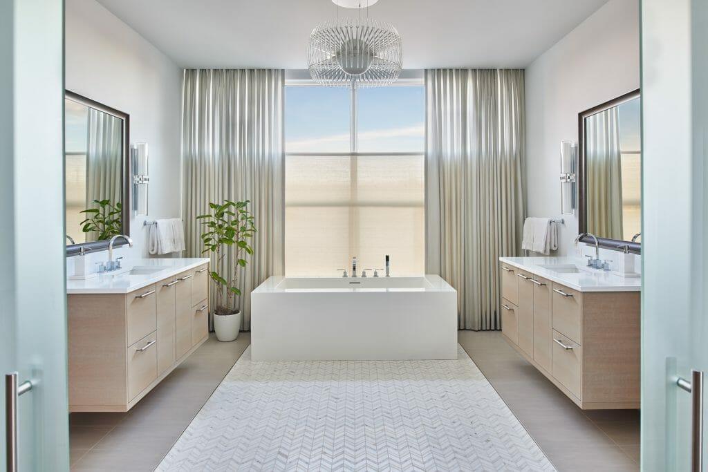 Luxury bathroom by top colorado sprigns interior designer jean adams