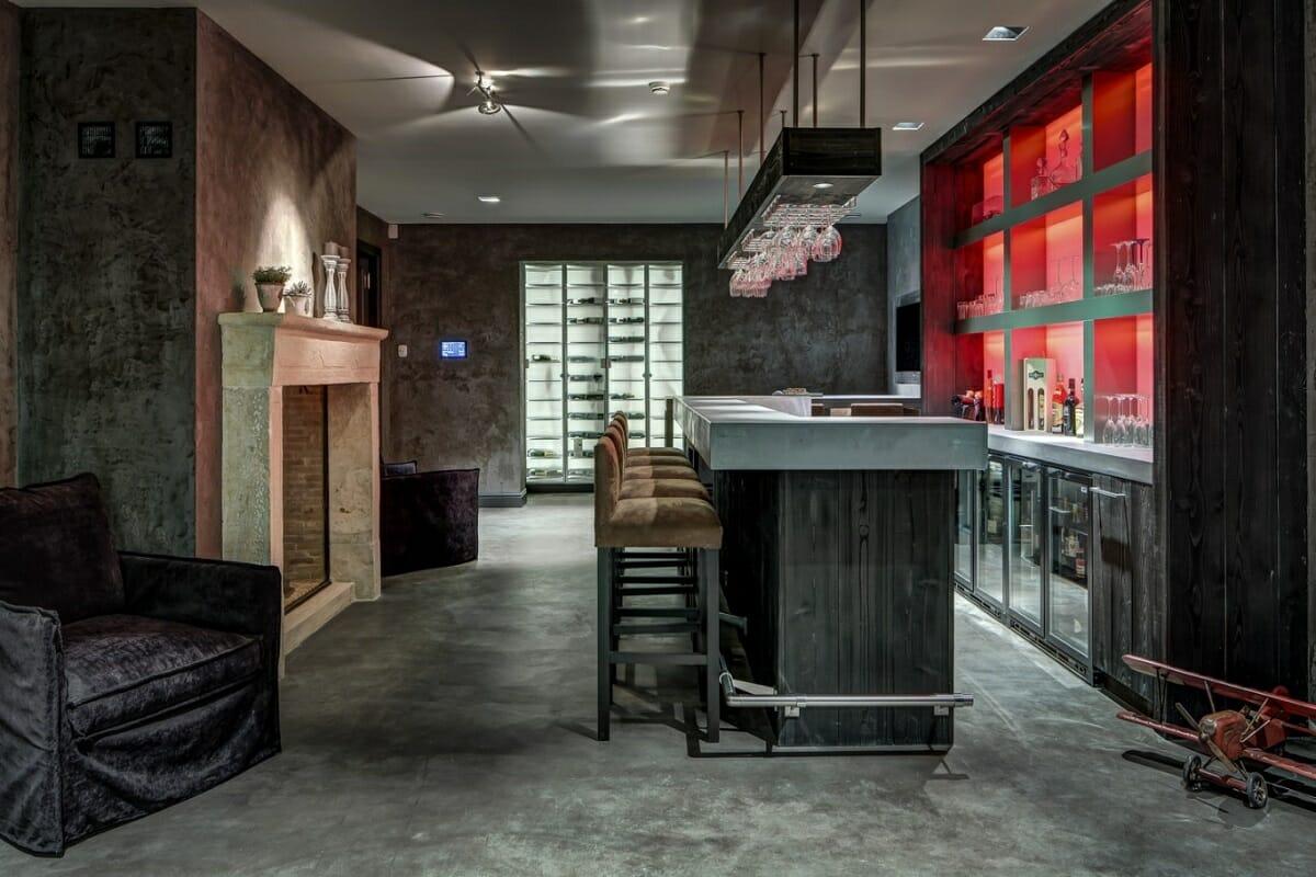 Man cave design ideas for a basement bar - PB