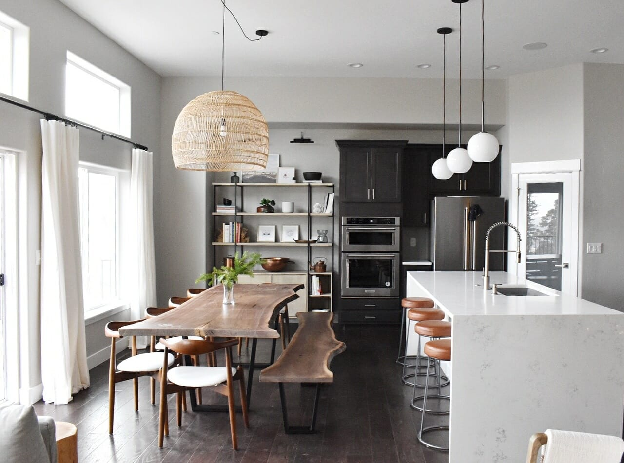 Rustic Modern Kitchen Remodel by one of the top colorado springs interior designers alyssa hill