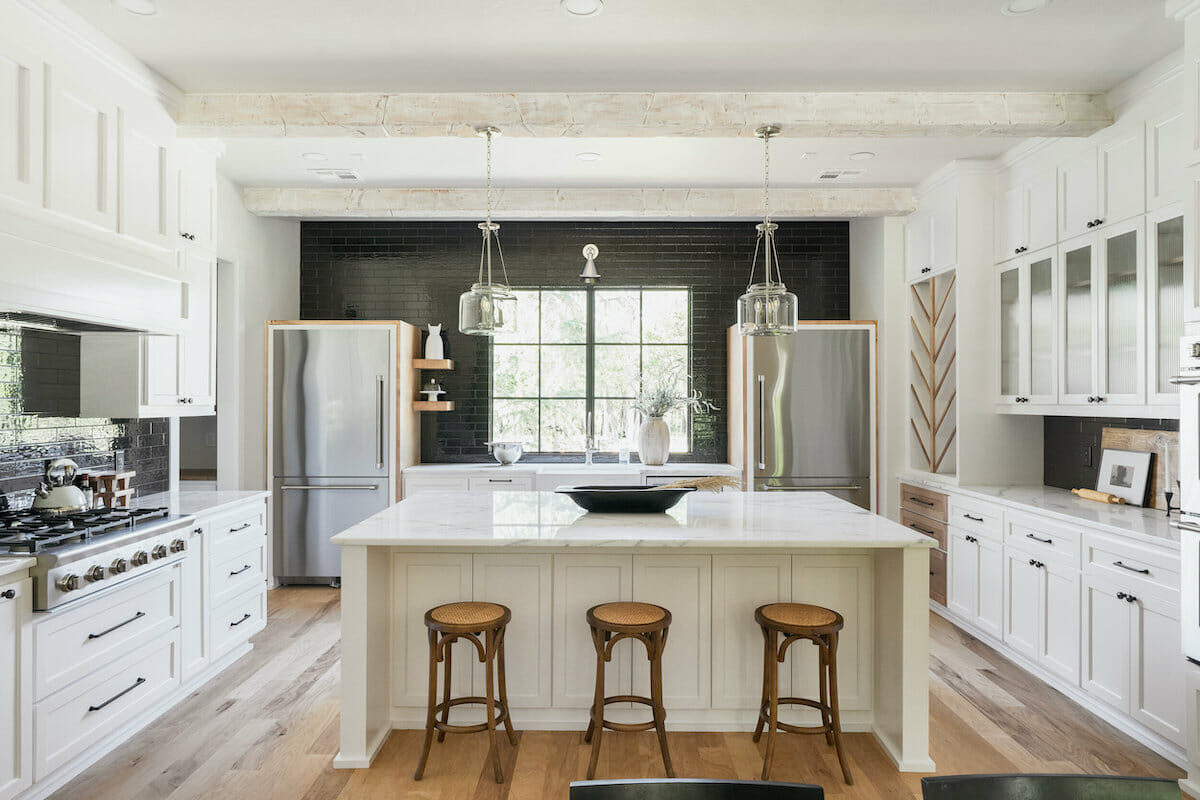 Rustic modern kitchen by interior decorator okc micah abbananto