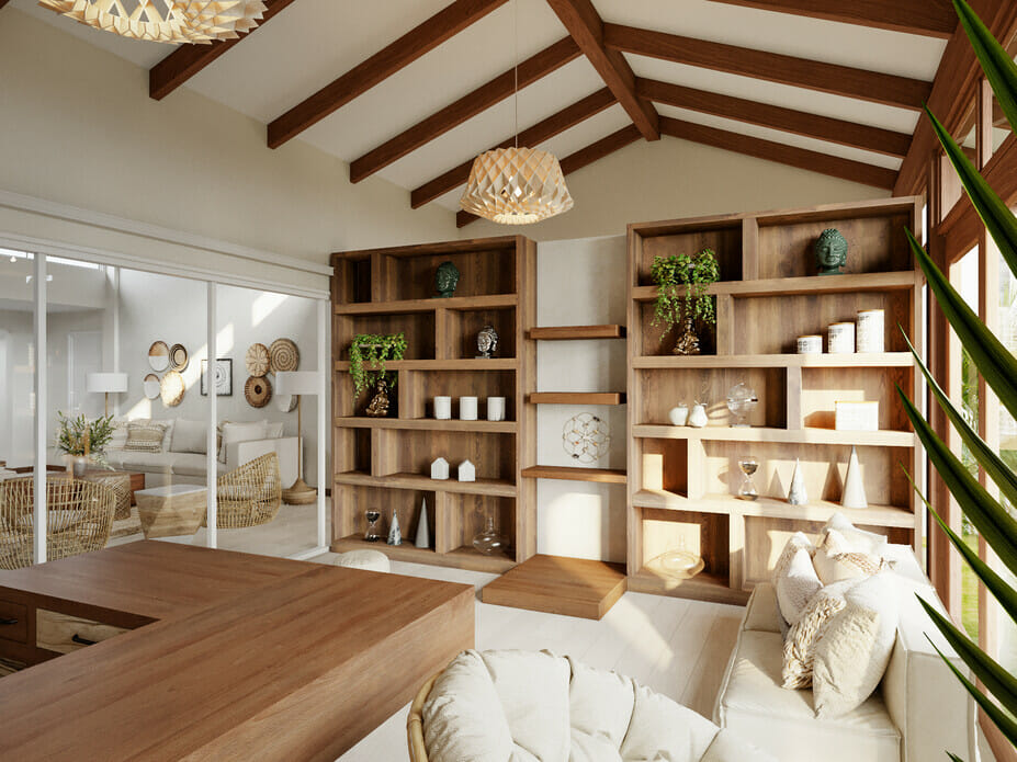 boho home office as his and hers home office ideas