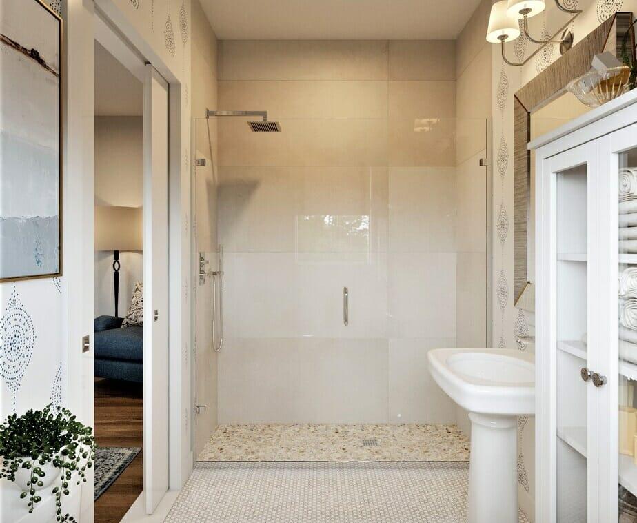 coastal bathroom shower