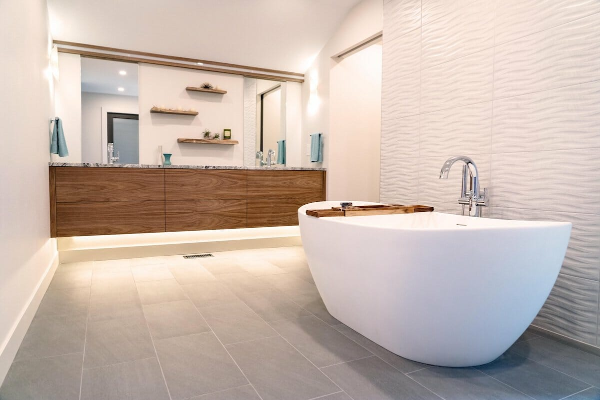 swanky bathroom remodel by one of the top colorado springs interior designers - design at play