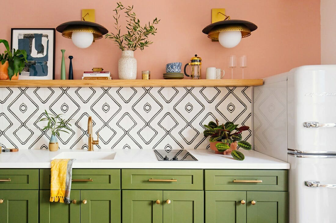 Green kitchen cabinet colors - Old Brand New