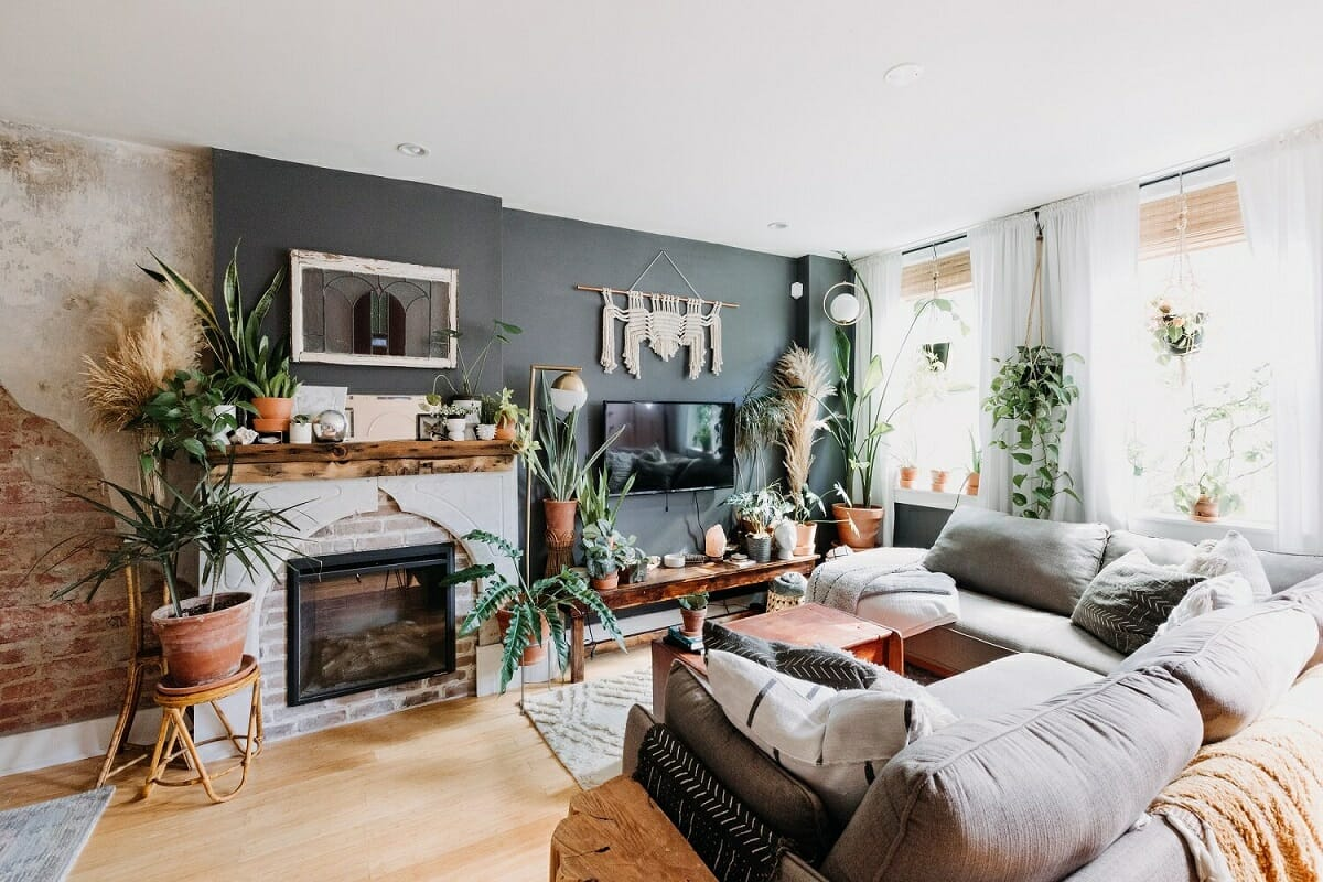 Interior plant design for a living room - the Nordroom