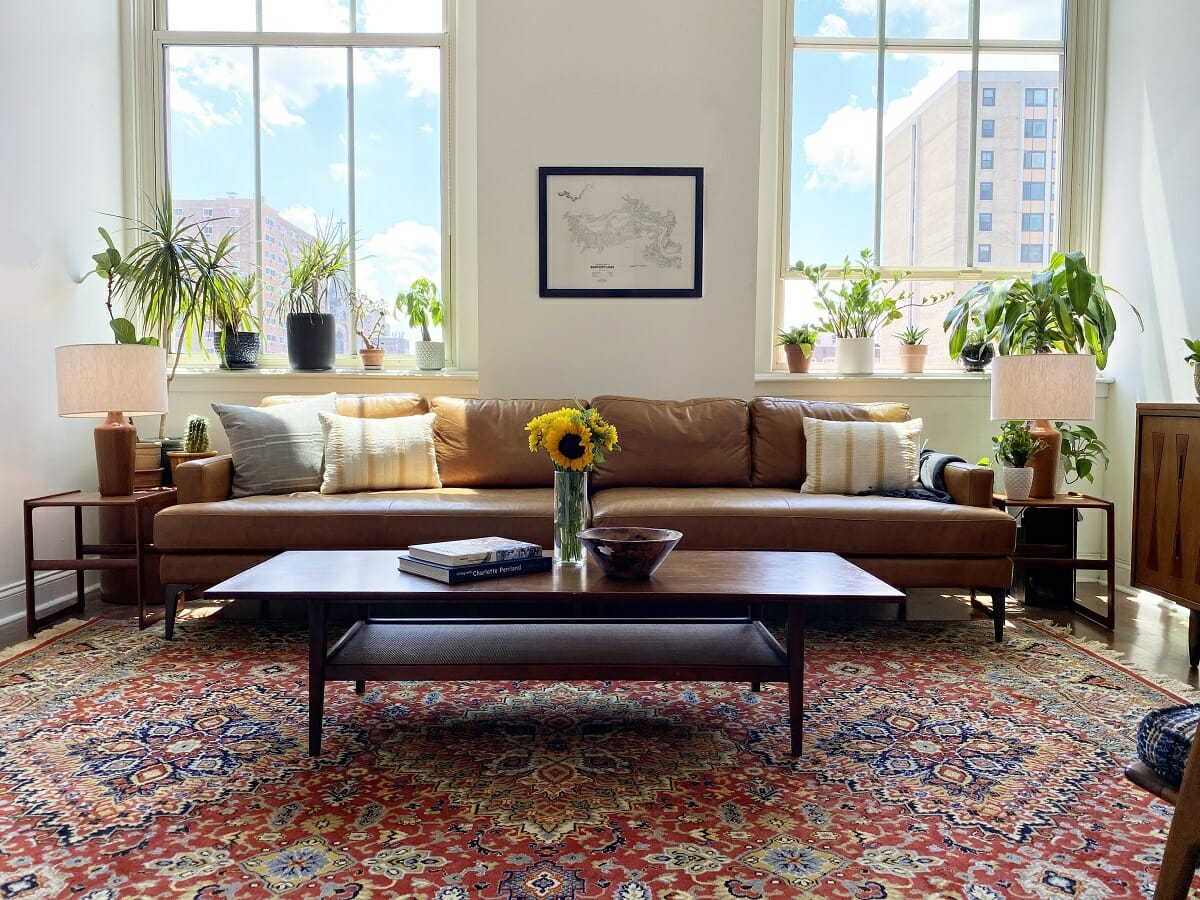 Living room design with plants - Amy C