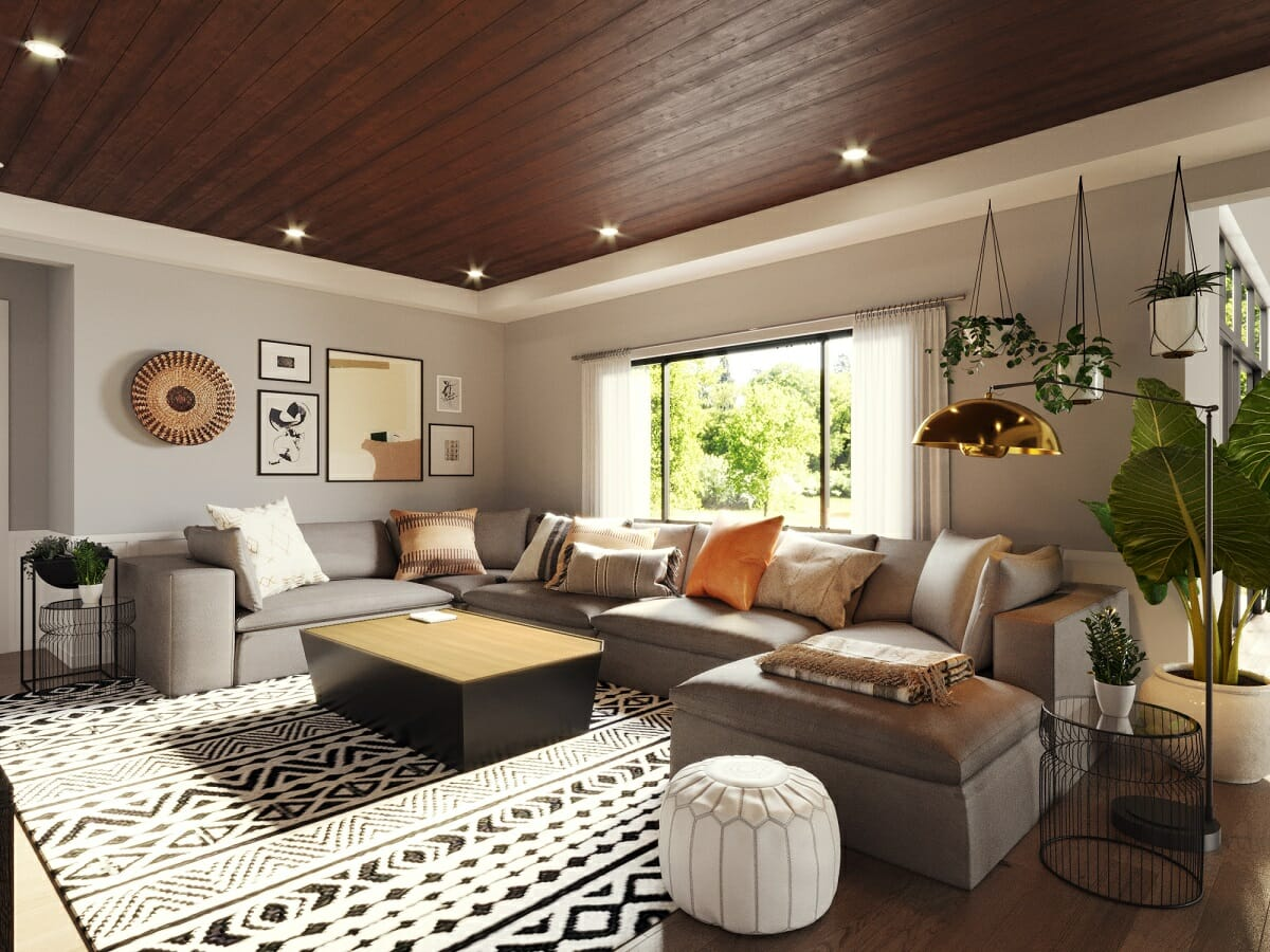 Modern boho interior decorating with plants - Jessica S