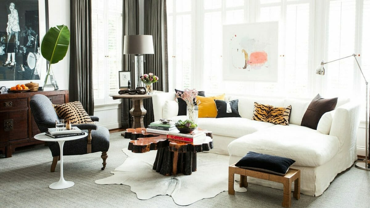 Eclectic living room by one of the top New Orleans interior designers