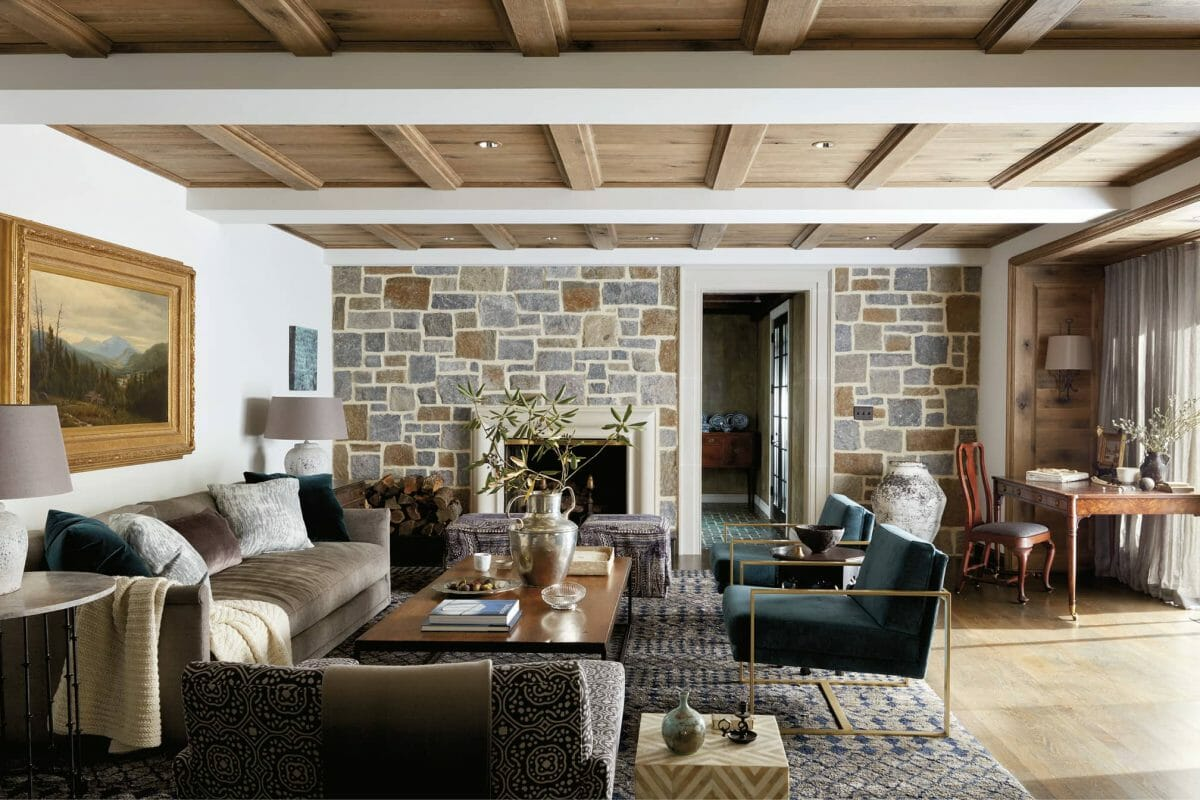 Modern living room by one of the top Baltimore interior designers